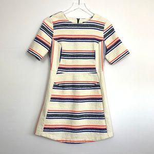 TopShop Short Sleeve Mini Cream Dress E67